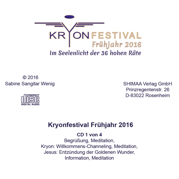 Mitschnitte Kryonfestival Frühjahr 2016